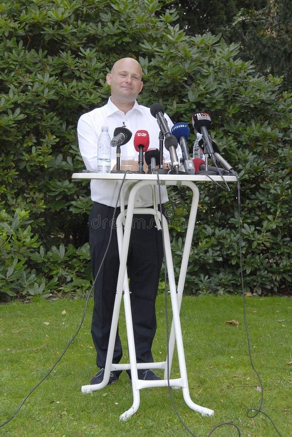 DENMARK_S�REN PAPE POULSEN. COPENHAGEN /DENMARK- Soren Pape Poulsen(S�ren Pape Poulsen) new hand picked leader and chairman of danish conservative royalty free stock images