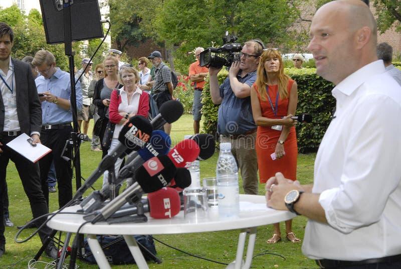 DENMARK_S�REN PAPE POULSEN. COPENHAGEN /DENMARK- Soren Pape Poulsen(S�ren Pape Poulsen) new hand picked leader and chairman of danish conservative stock photography