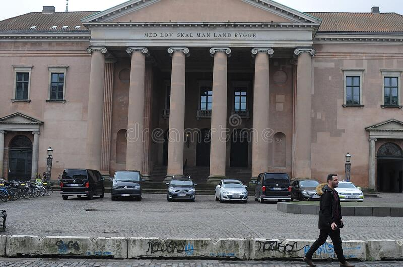 DENMARK`S CITY COURT IN COPENHAGEN DENMARK. Copenhagen /Denmark/ 10..February 2020 / Denmark`s city court in danish capital Copenhagen Denmark. Photo..Francis stock image