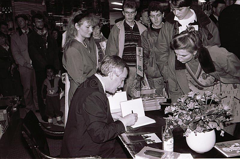 DENMARK`S FOREIGN MINISTER 1982-1993 UFFE ELLEMANN JENSEN stock image