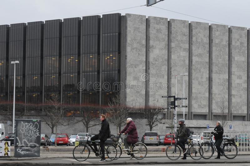 DENMARK`S NANTIONAL BANK IN COPENHAGEN DENMARK. Copenhagen/Denmark. 31January 2019._ Denmark`s national bank in Copenhaagen Denmark stock photography