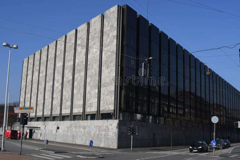 DENMARK`S NATIONAL BANK IN COPENHAGEN DENMARK. Copenhagen/Denmark. 18 .FEBUARY 2019. Denmark`s national bank in danish capital Copenhagen Denmark. Photo..Francis stock image