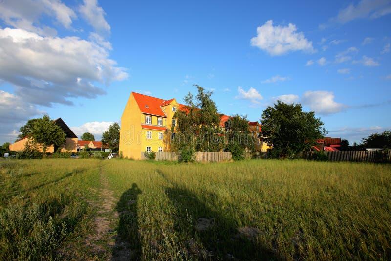 Denmark small town stock photo