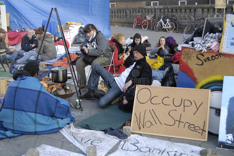 Download DENMARK_SPMPATHIZER OCCUPY WALL STREET Editorial Stock Image - Image: 21651464