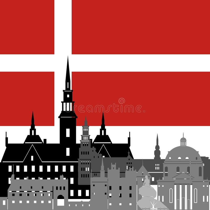 Download Denmark stock vector. Image of sign, country, shape, abstract - 41368141