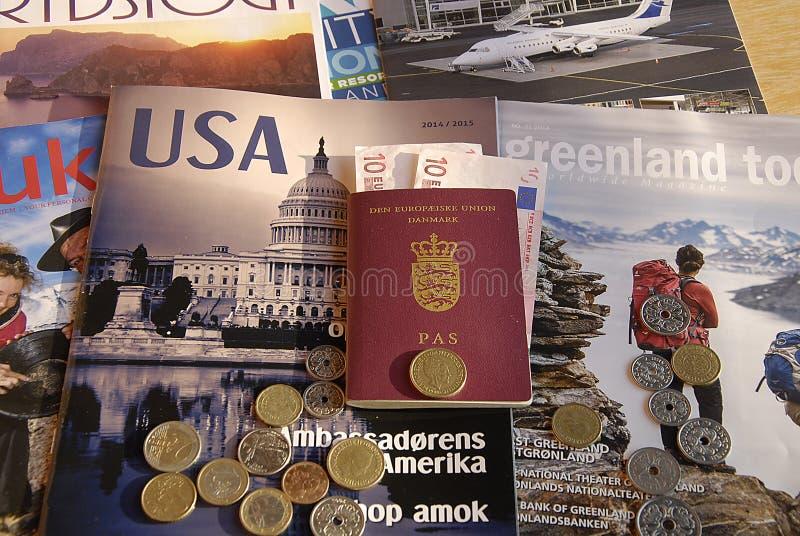 DENMARK_TRAVEL DECUMENTS stock foto's