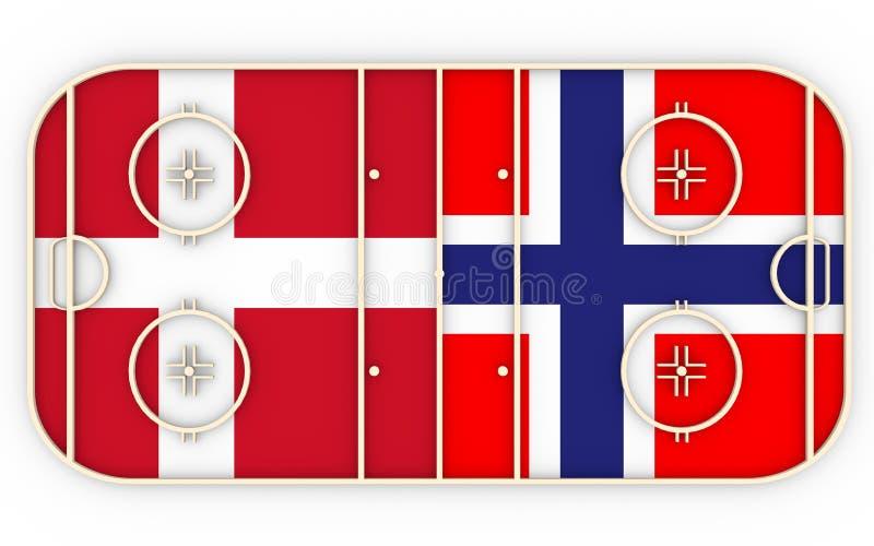 denmark vs Norway royalty ilustracja