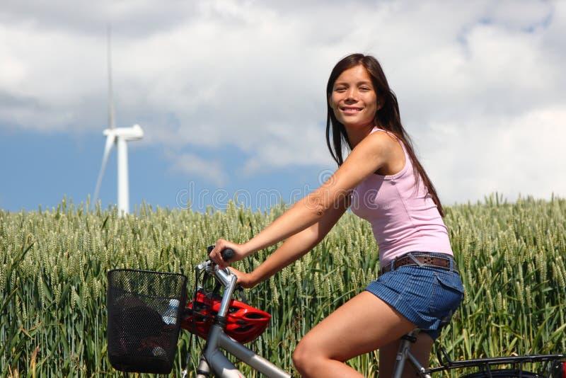 Denmark Woman biking