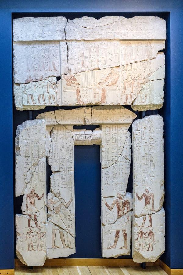 Denmark - Zealand region - Copenhagen - ancient art museum Glyptotek - exhibition of ancient Egypt specimens - portal with stock image