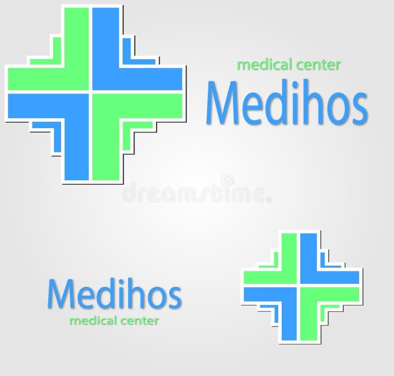 Denna är den färgrika medicinska symbolen royaltyfri bild
