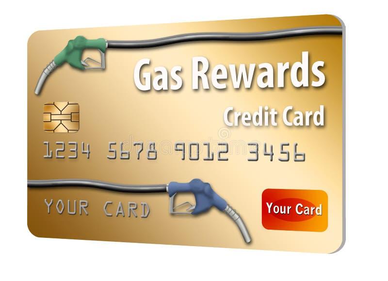 Denna är en generisk bensinbelöningkreditkort stock illustrationer