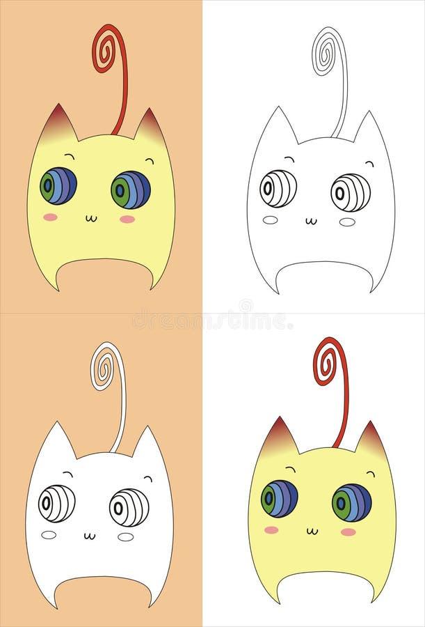 Främre look för katt royaltyfri illustrationer