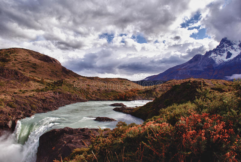 Torres Del Paine nationalpark arkivbild