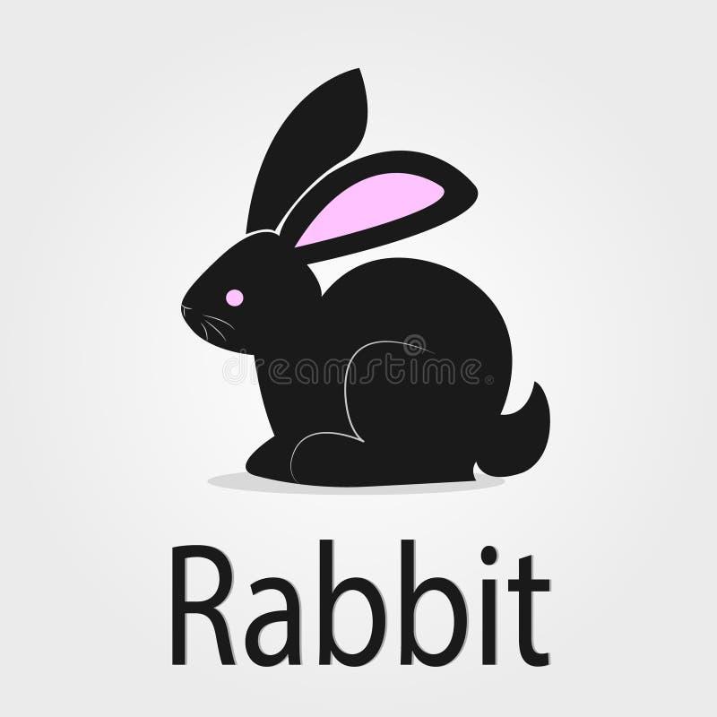 Denna är liten svart kanin arkivfoto