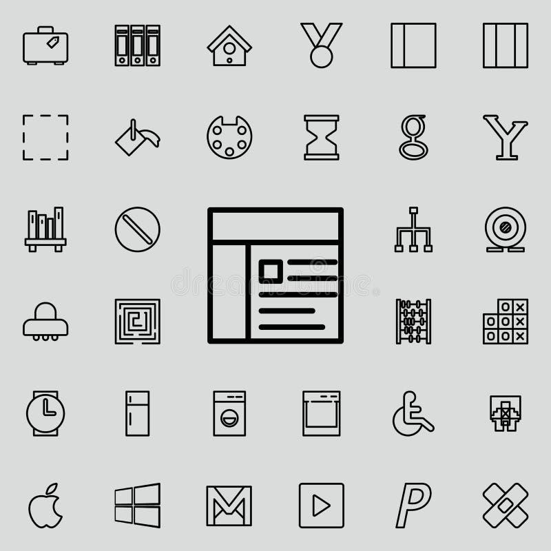 Denna är mappen av formatet EPS10 Detaljerad uppsättning av den minimalistic linjen symboler Högvärdig grafisk design En av samli vektor illustrationer