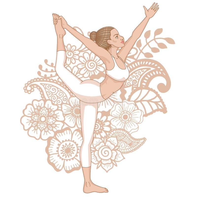 Denna är mappen av formatet EPS8 Herren av dansyogan poserar Natarajasana vektor illustrationer