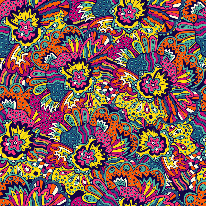 Denna är mappen av formatet EPS8 Sömlös botanisk textur stock illustrationer