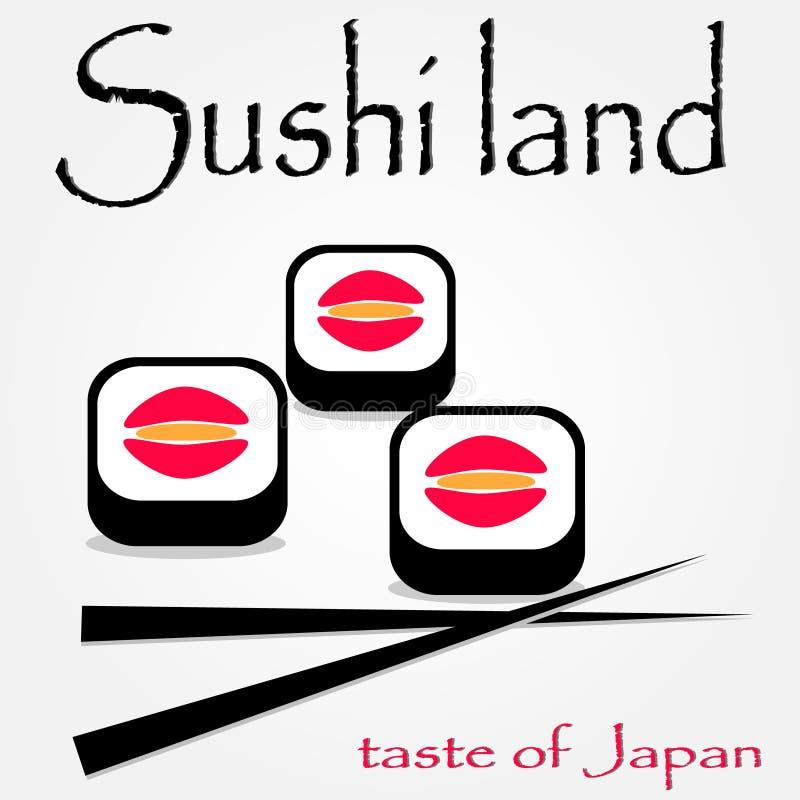Denna är sushisymboler royaltyfri bild