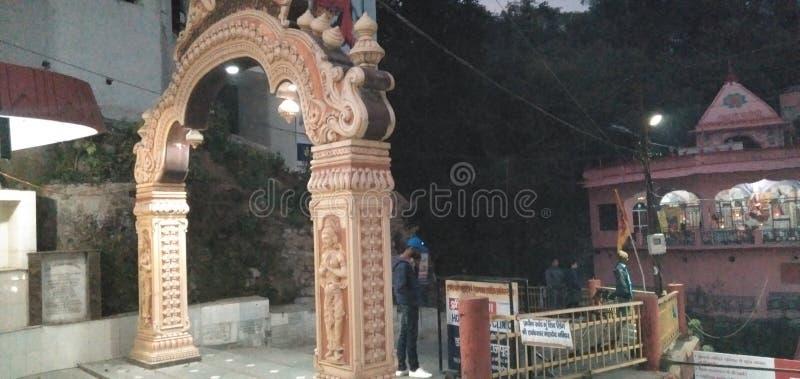 Denna bildShiv tempel i Indien dehradun uttarakhand fotografering för bildbyråer