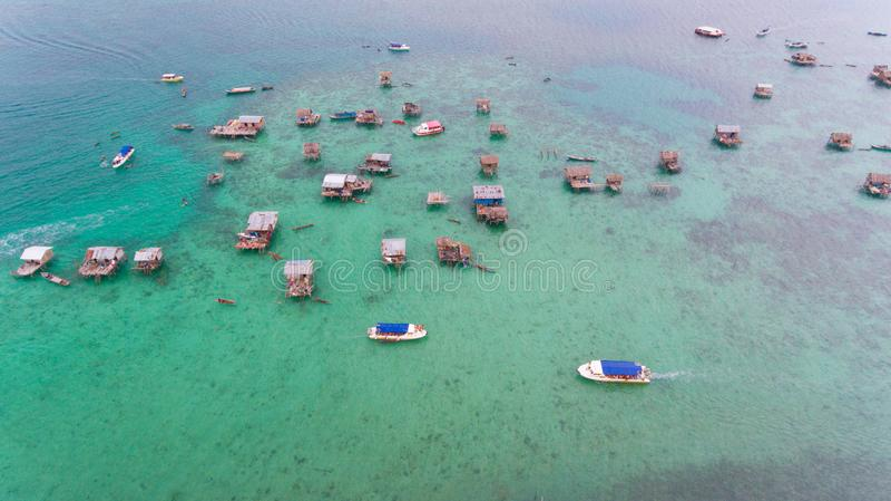 Denna gypsies Bodgaya wyspa Semporna obrazy stock