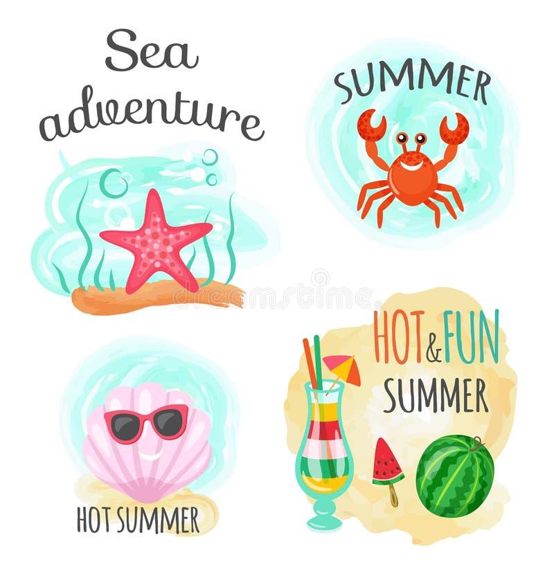 Denna przygoda i Gorący lato, Podwodni zwierzęta ilustracji