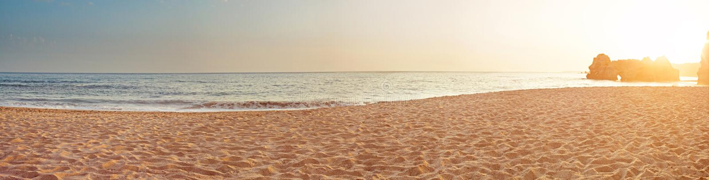 Denna ranek panorama tropikalna zdjęcie stock