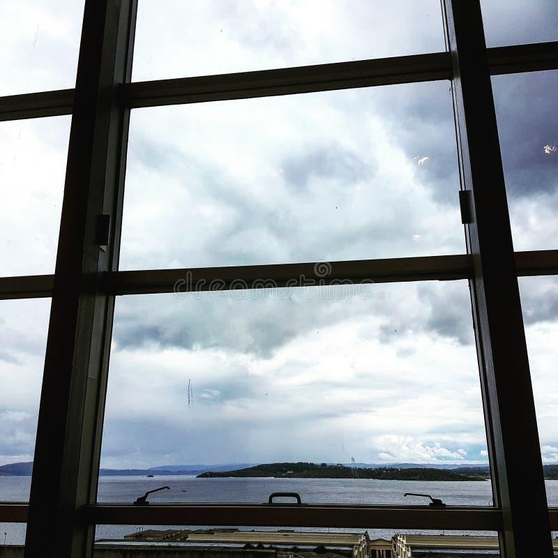 Denna synklina okno zdjęcie royalty free