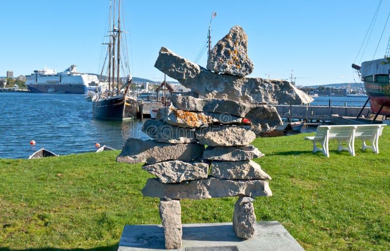 Traditionell scandinavian skulptur arkivfoton