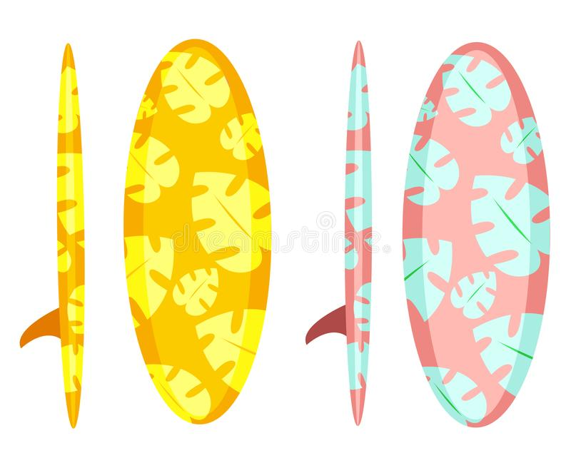 Denne surfing deski ilustracja wektor