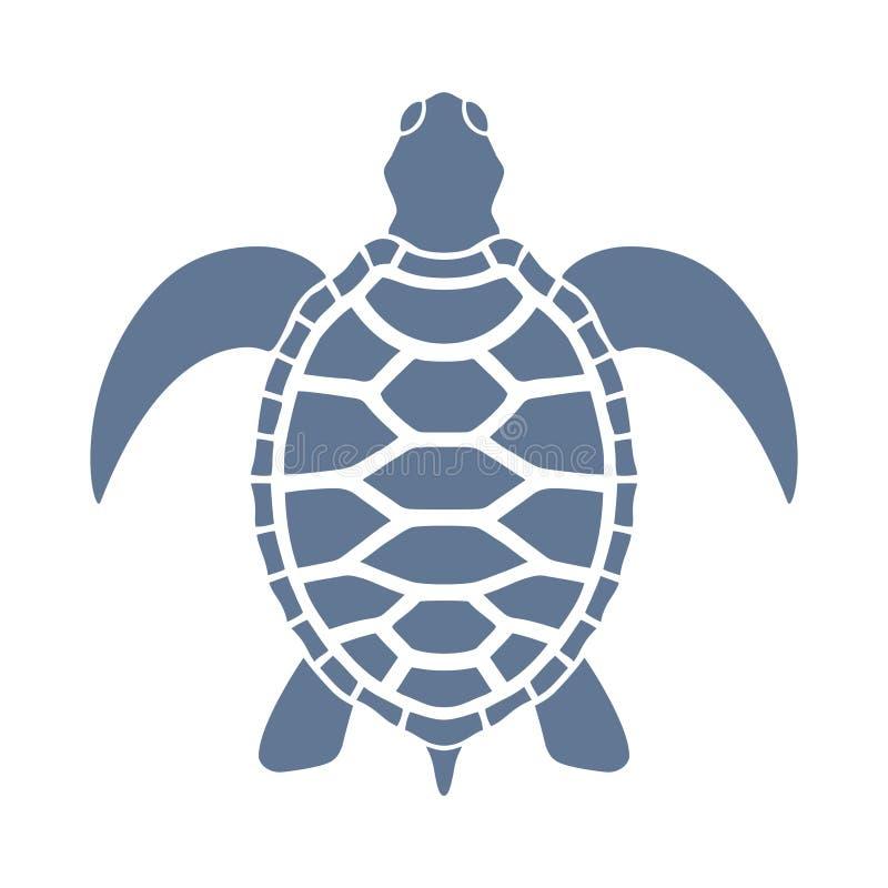 Dennego żółwia grafika znak ilustracji