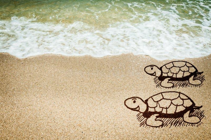 Dennego żółwia kreślić pojęcie ilustracji