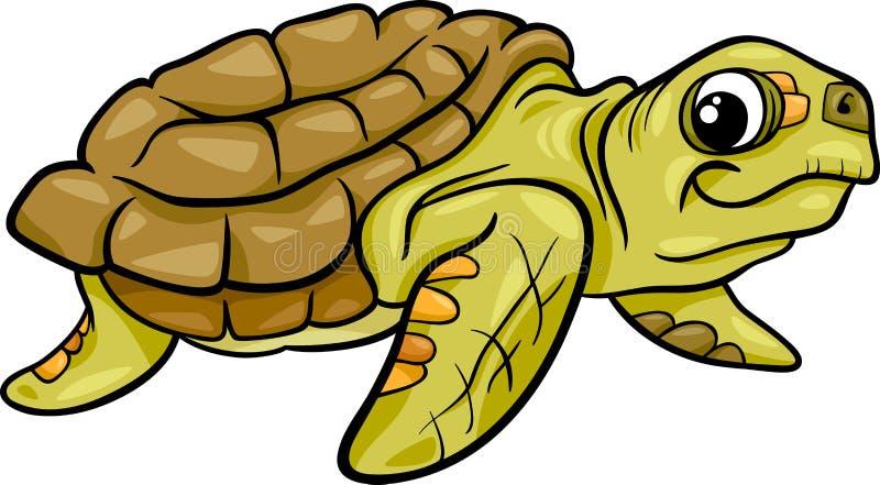 Dennego żółwia kreskówki zwierzęca ilustracja ilustracja wektor