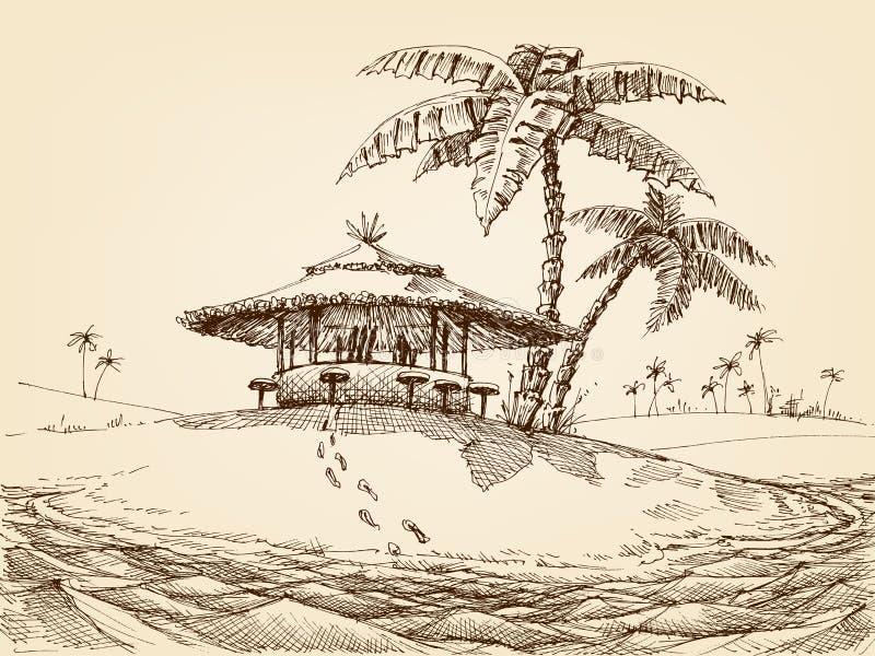 Dennego brzeg krajobraz ilustracji