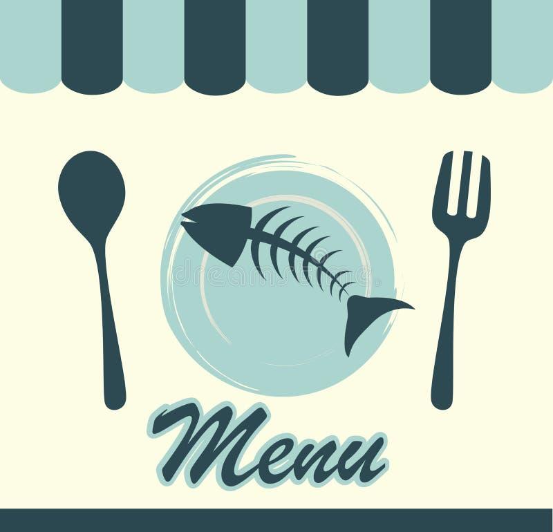 Dennego jedzenia menu ilustracja wektor