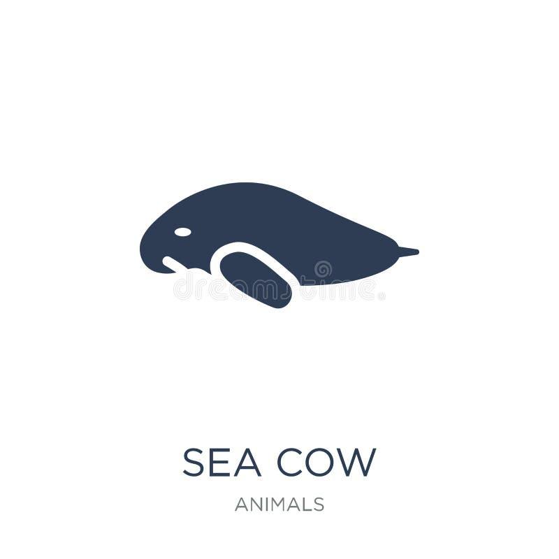 Dennej krowy ikona Modna płaska wektorowa Dennej krowy ikona na białym backgroun ilustracja wektor