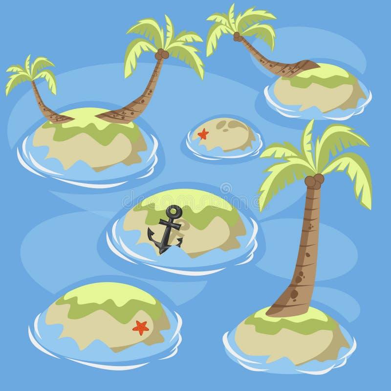 Dennej zieleni wyspy ilustracji