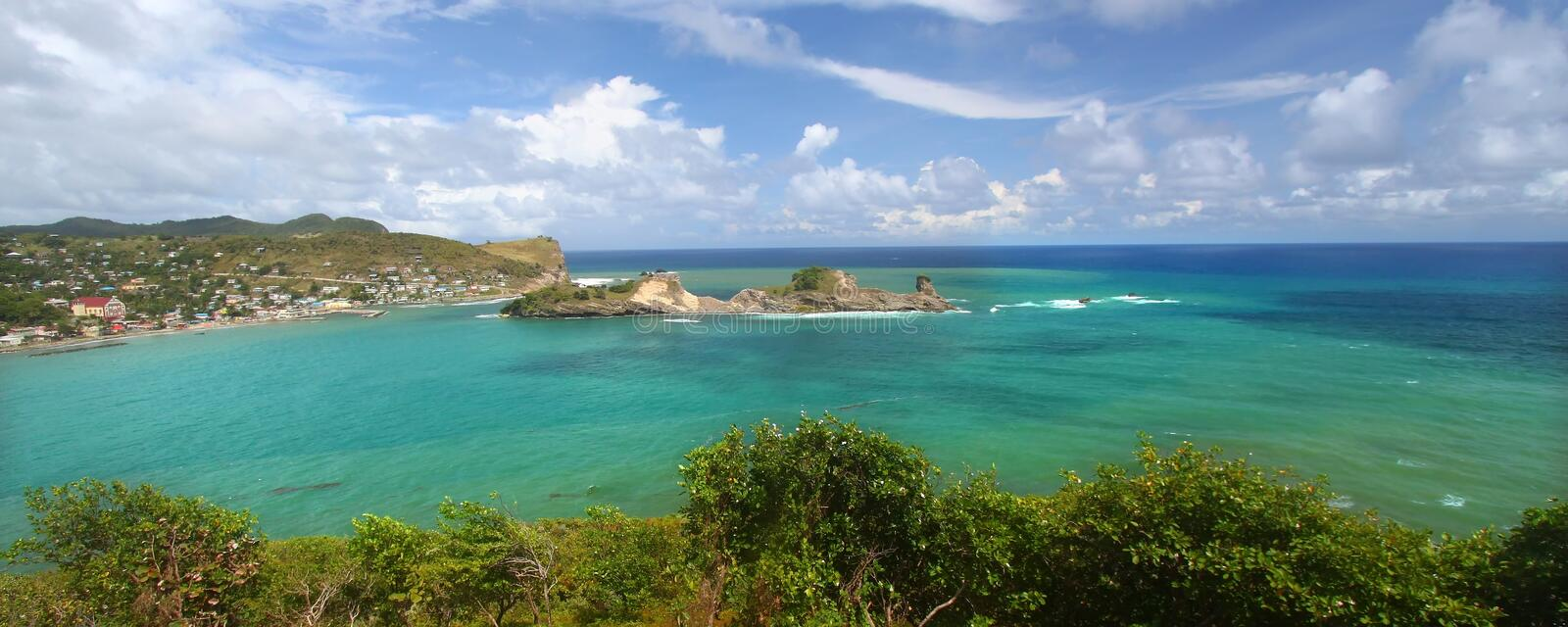 Download Dennery Bay - Saint Lucia stock image. Image of cloud - 15981379