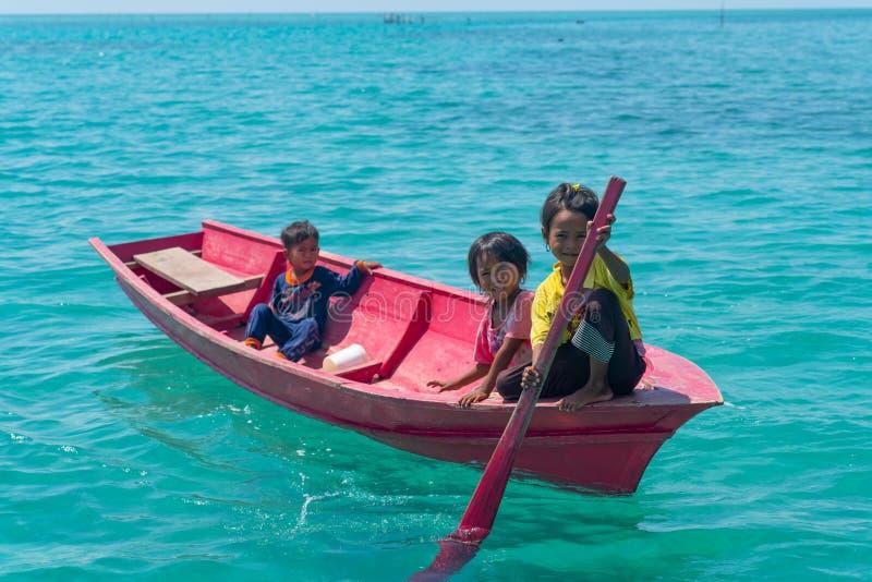 Denni gypsies Sabah Borneo obraz stock