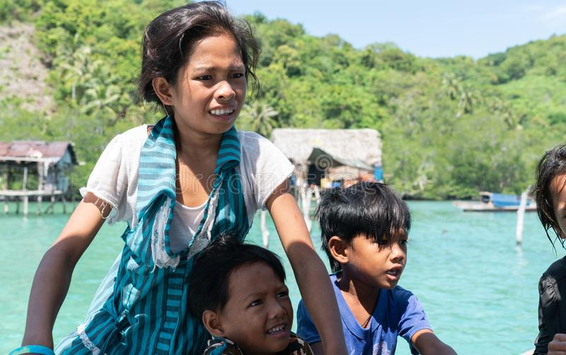 Denni gypsies Sabah Borneo fotografia royalty free