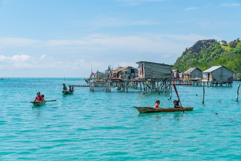 Denni gypsies Sabah Borneo obrazy royalty free
