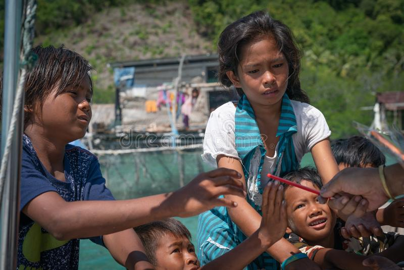Denni gypsies Sabah Borneo zdjęcie royalty free