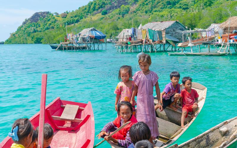 Denni gypsies Sabah Borneo obraz royalty free