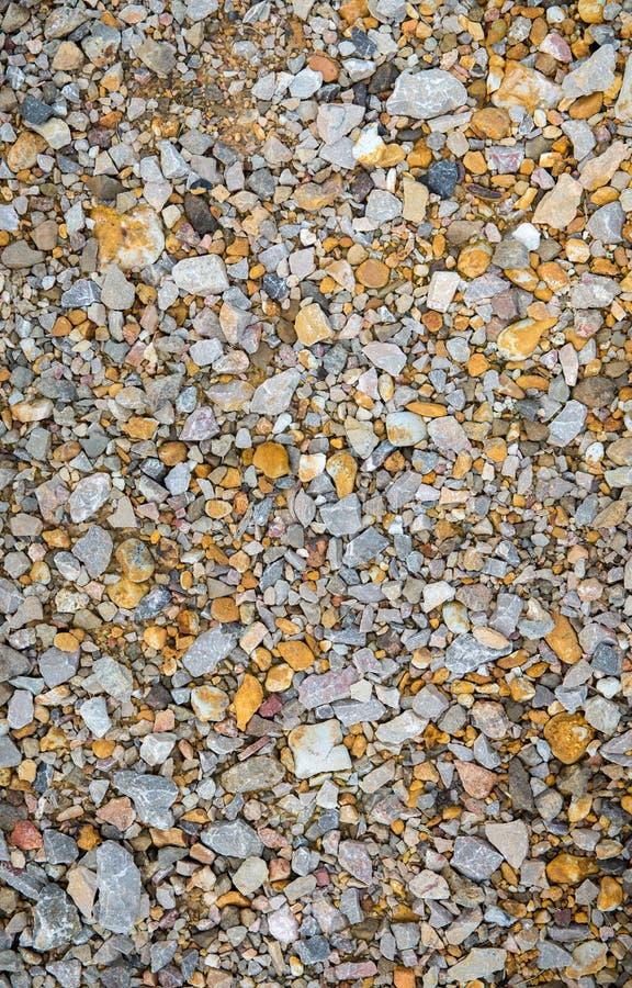 Denni otoczaki Mały kamienia żwiru tekstury tło Stos otoczaki, Thailand Koloru kamień w tle fotografia royalty free