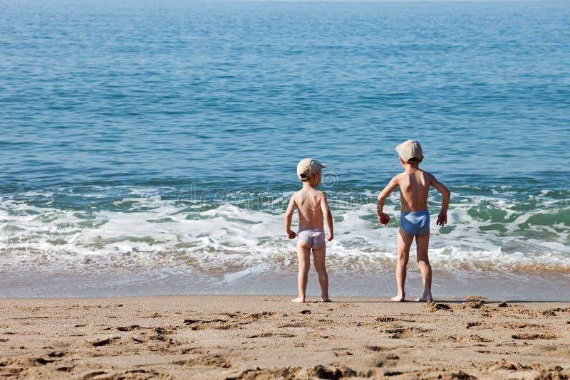 denni plażowi dzieci zdjęcie stock