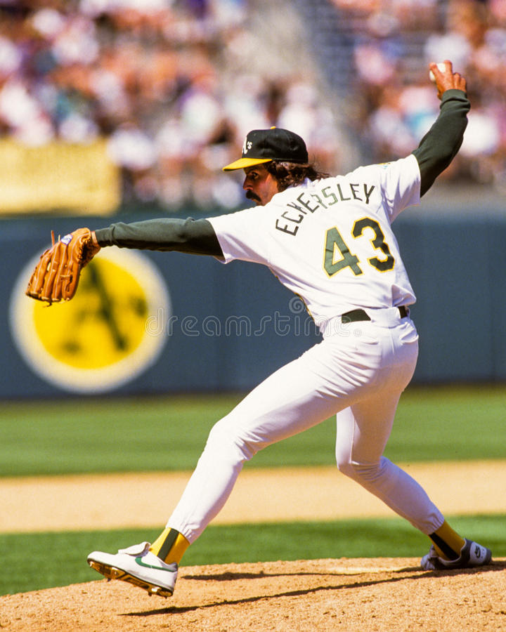 Dennis Eckersley Oakland A immagine stock