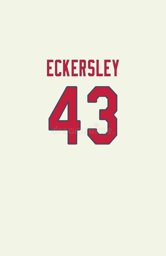 Dennis Eckersley, St Louis Cardinals Jersey Back photographie stock libre de droits