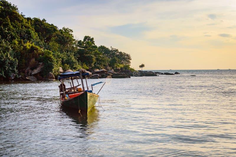 Denny brzeg w Sihanoukville plaży obraz royalty free