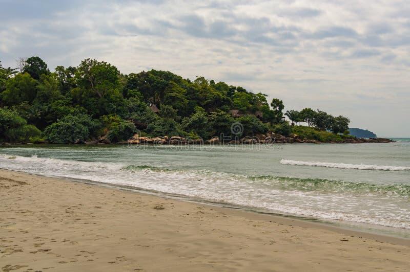 Denny brzeg w Sihanoukville plaży obrazy royalty free