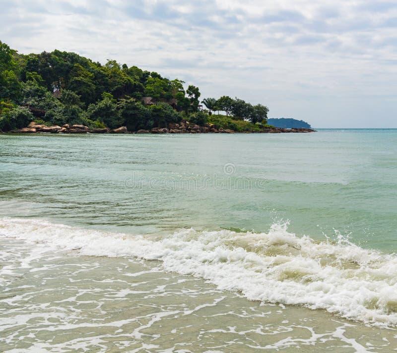 Denny brzeg w Sihanoukville plaży zdjęcia royalty free