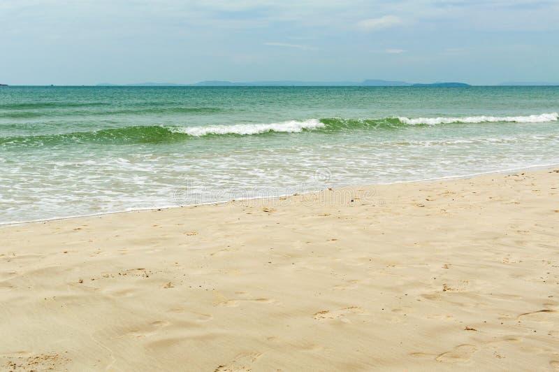 Denny brzeg w Sihanoukville plaży fotografia royalty free